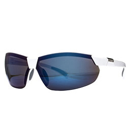 SunCloud Switchback Sunglasses, White-Blue Mirror Polarized, 256