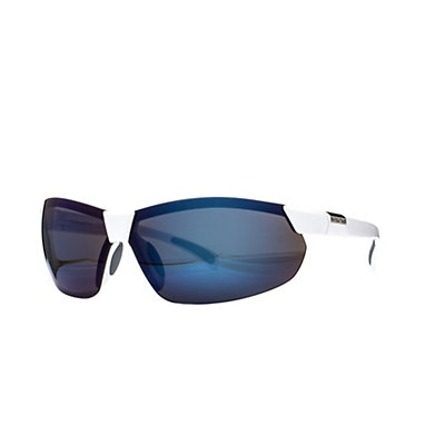 SunCloud Switchback Sunglasses, Matte Black-Silver Mirror Polarized, viewer