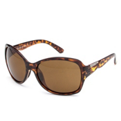 SunCloud Cassandra Sunglasses, Tortoise-Brown Polarized, medium