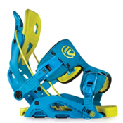 Flow Fuse Snowboard Bindings, Blue-Lime, medium