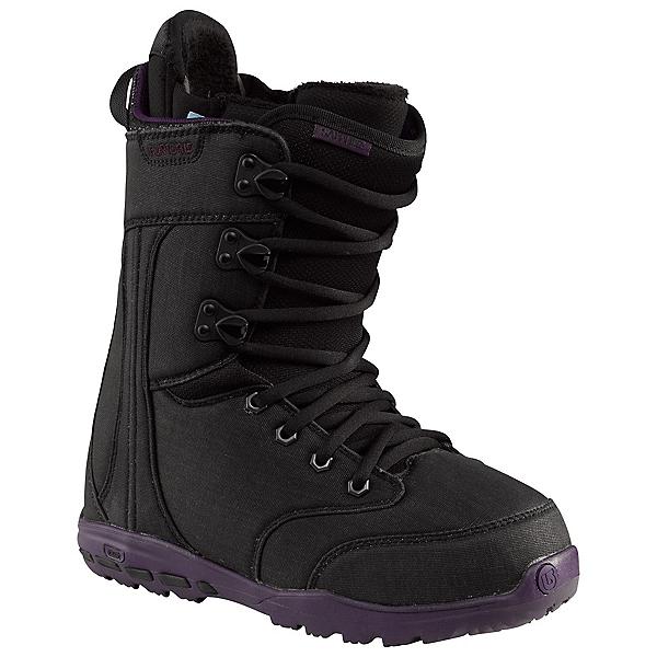 Burton Sapphire Womens Snowboard Boots, Black-Black, 600