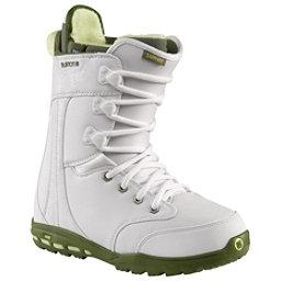 Burton Sapphire Womens Snowboard Boots, White-Green, 256