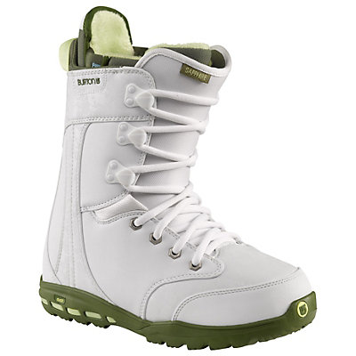 Burton Sapphire Womens Snowboard Boots, White-Green, viewer