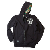 Line Benchmark Zip Hoodie, Black, medium
