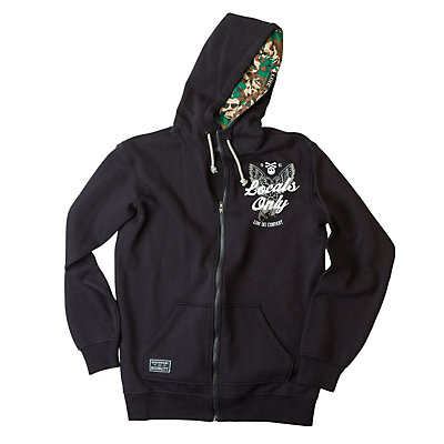 Line Benchmark Zip Mens Hoodie, Black, viewer