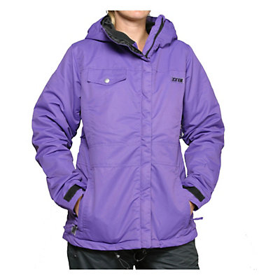 Zonal Edge Womens Insulated Snowboard Jacket, Caviar, viewer