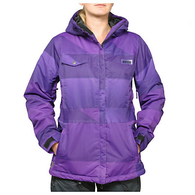 Zonal Surface Womens Insulated Snowboard Jacket, Purple, viewer