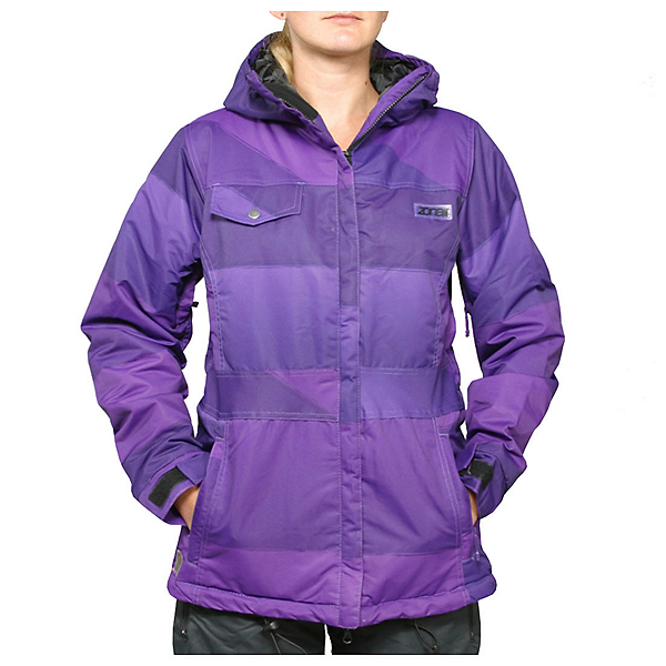 Zonal Surface Womens Insulated Snowboard Jacket, Purple, 600