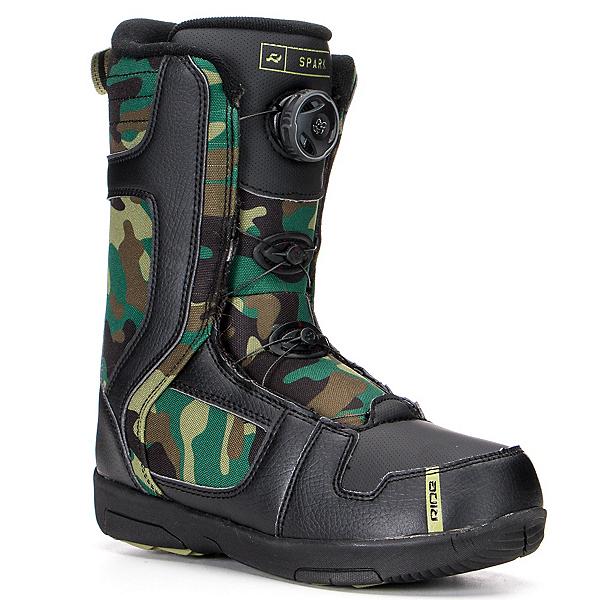 Ride Spark Boa Kids Snowboard Boots, Black, 600