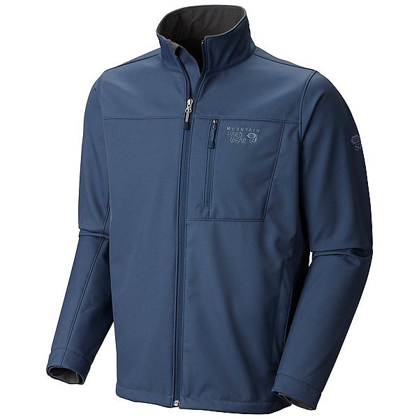 Mountain Hardwear Android II Mens Soft Shell Jacket, Zinc, 600