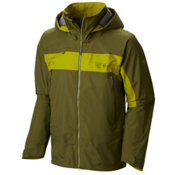 Mountain Hardwear Compulsion Mens Shell Ski Jacket, Utility Green-Python Green, medium