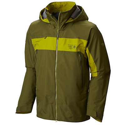 Mountain Hardwear Compulsion Mens Shell Ski Jacket, Utility Green-Python Green, viewer