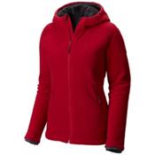 Mountain Hardwear Dual Fleece Hooded Womens Jacket, Pomegranate, medium