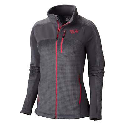 Mountain Hardwear Hoodless Monkey Woman Grid Womens Jacket, Graphite-Bright Rose, viewer
