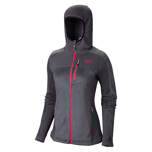 Mountain Hardwear Monkey Woman Grid Womens Jacket, Graphite-Bright Rose, 600