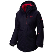 Mountain Hardwear Snowburst Parka Womens Insulated Ski Jacket, Ebony Blue, medium
