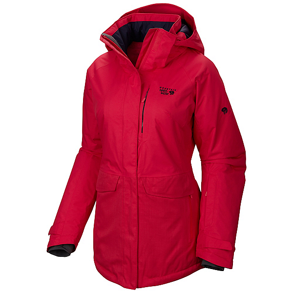 Mountain Hardwear Snowburst Parka Womens Insulated Ski Jacket, Bright Rose, 600