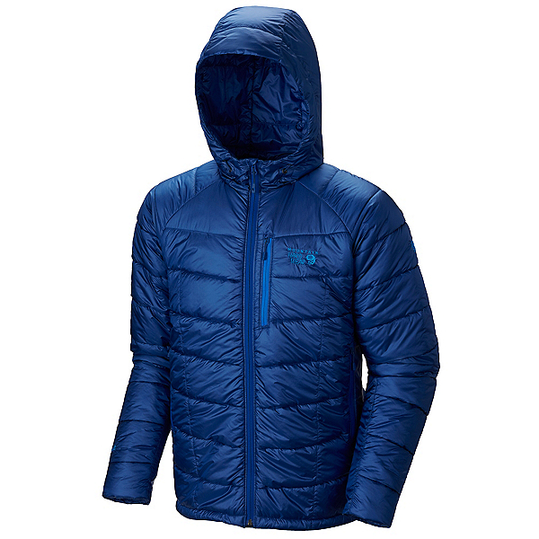 Mountain Hardwear Super Compressor Hooded Mens Jacket, Azul, 600