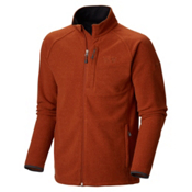 Mountain Hardwear Toasty Tweed Fleece Mens Jacket, Dark Adobe, medium