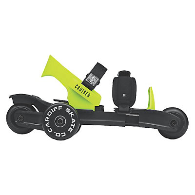 Cardiff Cruiser Lime Kids Inline Skates, Black-Lime, viewer