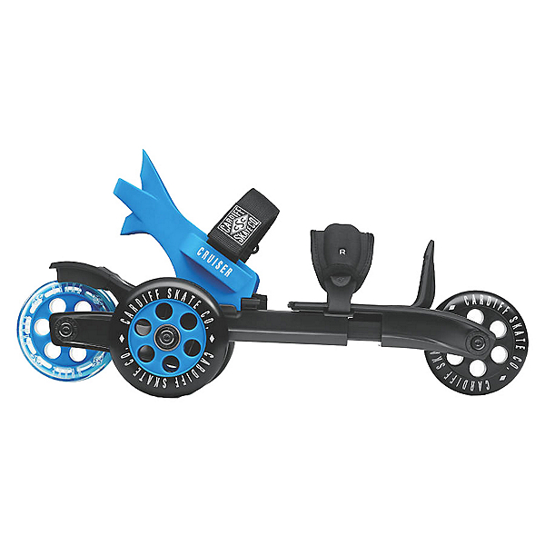 Cardiff Cruiser Large Inline Skates, Black-Blue, 600
