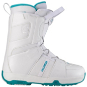Salomon Linea Womens Snowboard Boots, White-Bay Blue-White, medium