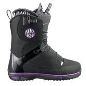 Salomon Kiana Womens Snowboard Boots, Black-Grape Juice-Black, medium