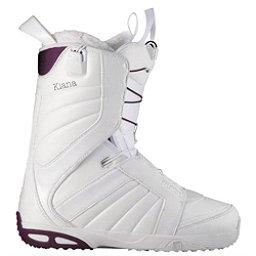 Salomon Kiana Womens Snowboard Boots, White-Plum-White, 256