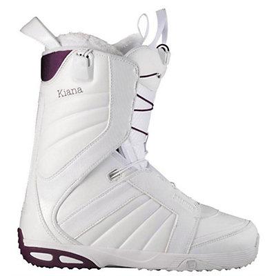 Salomon Kiana Womens Snowboard Boots, White-Plum-White, viewer