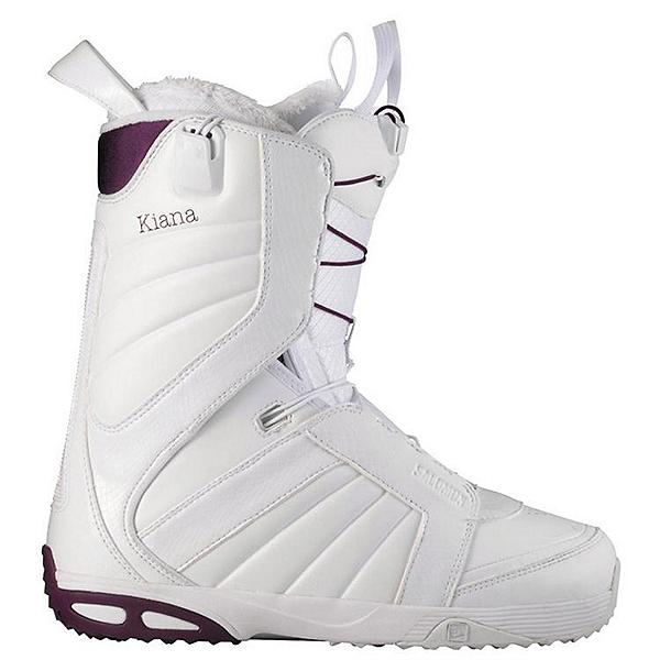 Salomon Kiana Womens Snowboard Boots, White-Plum-White, 600