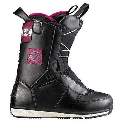 Salomon Lily Womens Snowboard Boots, Black-Purple Iris-Black, viewer