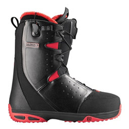 Salomon Moxie Womens Snowboard Boots, Black-Bright Red-Black, 256