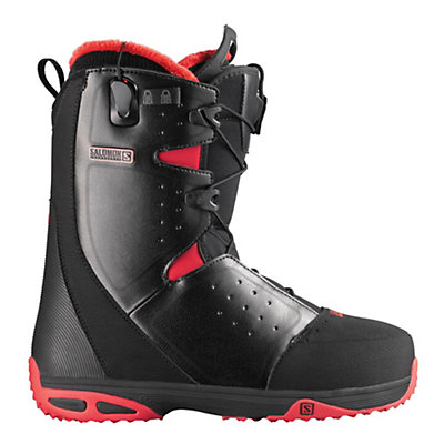 Salomon Moxie Womens Snowboard Boots, Black-Bright Red-Black, viewer