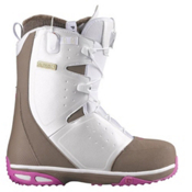 Salomon Moxie Womens Snowboard Boots, White-Shrew-Fancy Pink, medium