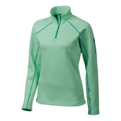 Marmot Stretch Fleece 1/2 Zip Womens Mid Layer, Green Frost, medium