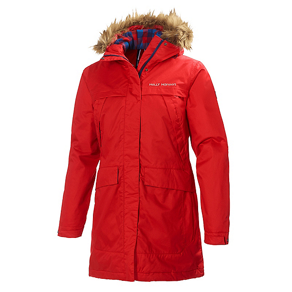 Helly Hansen Coastline Parka w/Faux Fur Womens Jacket, Alert Red, 600
