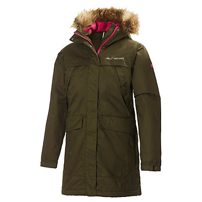 Helly Hansen Coastline Parka w/Faux Fur Womens Jacket, Olive Night, viewer
