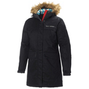 Helly Hansen Coastline Parka w/Faux Fur Womens Jacket, Black, medium