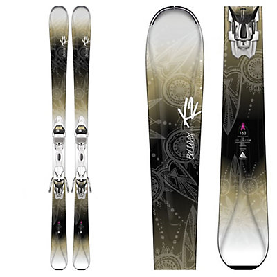 K2 Beluved 78Ti Womens Skis with Marker ER3 10 Bindings, , viewer