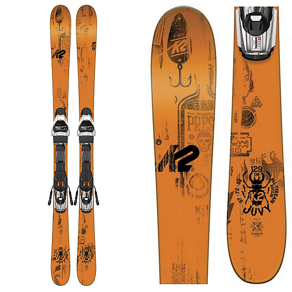 K2 Juvy Kids Skis with Marker Fastrack2 7.0 Bindings 2017, , 600