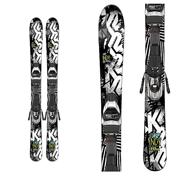K2 Indy Kids Skis with Marker Fastrak2 4.5 Bindings 2017, , 600