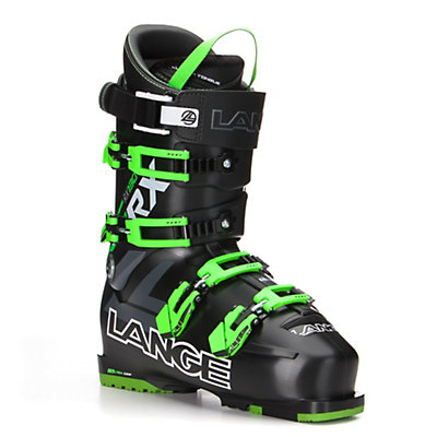 Lange RX 130 Ski Boots 2017, Black-Green, viewer