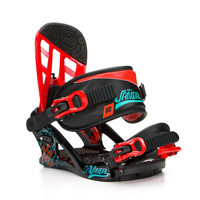K2 Vandal Kids Snowboard Bindings, Black, viewer