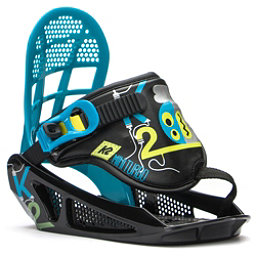 K2 Mini Turbo Kids Snowboard Bindings 2017, Black, 256