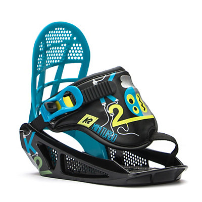K2 Mini Turbo Kids Snowboard Bindings 2017, Black, viewer