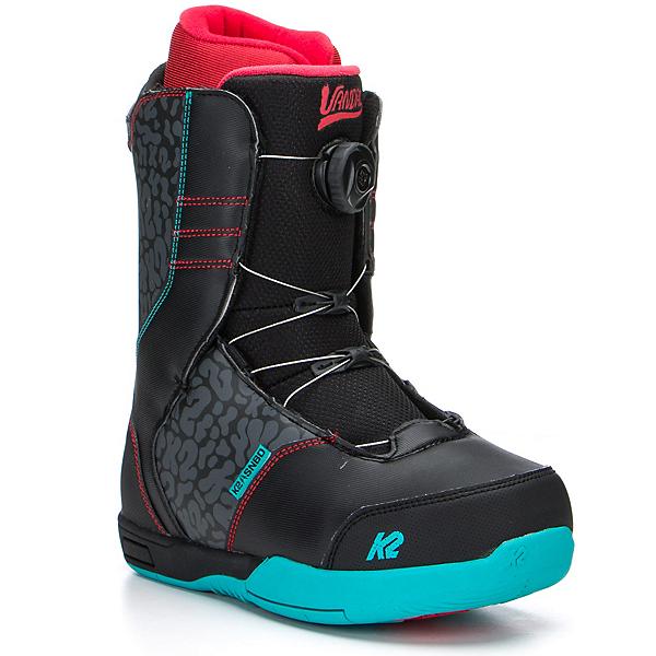 K2 Vandal Boa Kids Snowboard Boots, Black, 600