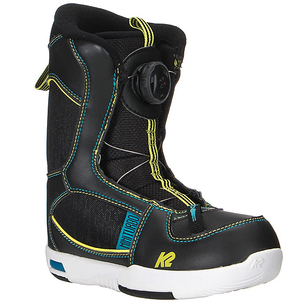 K2 Mini Turbo Boa Kids Snowboard Boots 2017, Black, 600