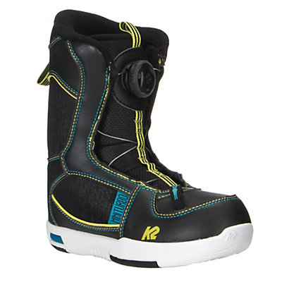 K2 Mini Turbo Boa Kids Snowboard Boots, Black, viewer