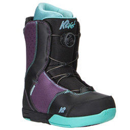 K2 Kat Boa Girls Snowboard Boots, Black, 256