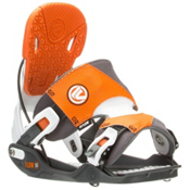 Flow Five Snowboard Bindings, Grey-Orange, medium